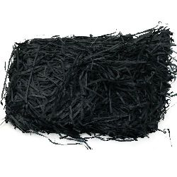 Artificial Paper Grass, Decoration Decoupage DIY Black 50 g