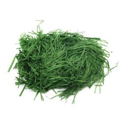Хартиена трева цвят зелен - 50 грама