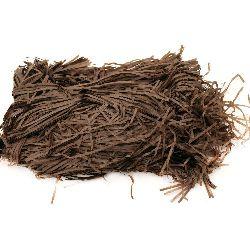 Хартиена трева цвят кафяв - 50 грама