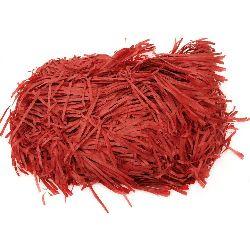 Хартиена трева цвят червен - 50 грама