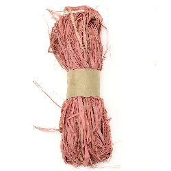 Лико/рафия натурално цвят розов бледо -30 грама