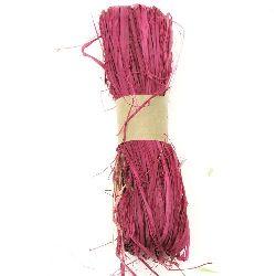 Лико/рафия натурално цвят циклама -30 грама
