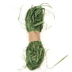 Лико/рафия натурално цвят зелен -30 грама