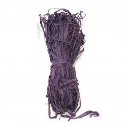 Διακοσμητικό φυσικό χόρτο ράφια, μωβ -30 γραμμάρια