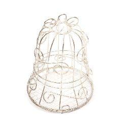 Клетка камбанка 70x100 мм цвят сребро