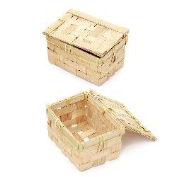Кутия с капак 110x60x80 мм светло дърво