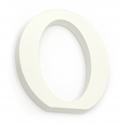 """Letter wood """"O"""" 110x97x12 mm - white,Decoupage Scrapbooking Gifts Decoration"""
