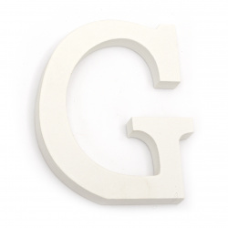 """Letter wood """"G"""" 110x92x12 mm - white,Scrapbooking Gifts Decoration"""