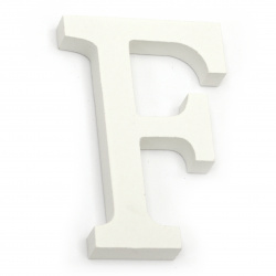 """Letter wood """"F"""" 110x73x12 mm - white,Scrapbooking Gifts Decoration"""