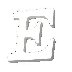"""Letter wood """"E"""" 110x72x12 mm - white,Scrapbooking Gifts Decoration"""