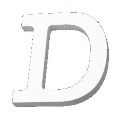 """Letter wood """"D"""" 110x80x12 mm - white,Scrapbooking Gifts Decoration"""