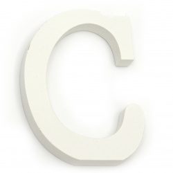 """Letter wood """"C"""" 110x85x12 mm - white,Scrapbooking Gifts Decoration"""