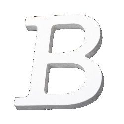 """Letter wood """"B"""" 110x85x12 mm - white,Scrapbooking Gifts Decoration"""