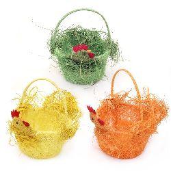 Кошница от кокосова трева 110x160x190 мм -различни цветове