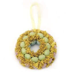 Easter wreath 130x30 mm for hanging