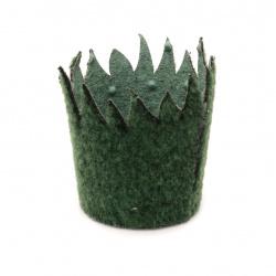 Кошница 75x55 мм зелена