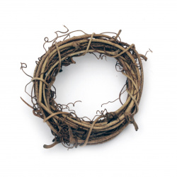 Wooden Wreath, Home Decor, DIY, Craft Projects 60mm