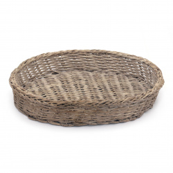 Knitted basket 290x210x50 mm brown