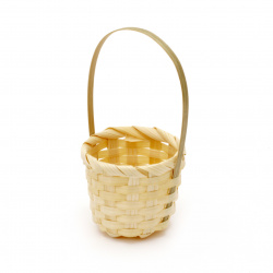 Basket for decoration 40x53x115 mm white