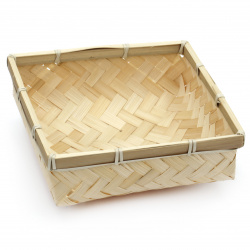 Knitted basket  170x170x60 mm color light wood