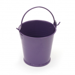 Metal bucket for decoration 55x40x55 mm ASSORTED colors