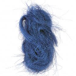 Ангелска коса усукана синя тъмна -10 грама