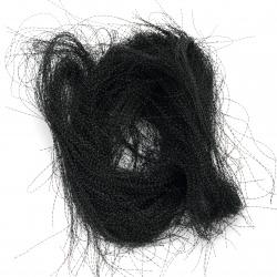 Ангелска коса усукана черна -10 грама