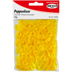 Коса за кукли 14 гр Meyco жълта