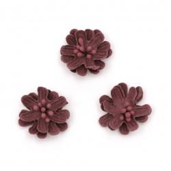 Λουλούδι από σουέτ χαρτί 25x10 mm με στήμονες κυκλάμινο παστέλ -5 τεμάχια