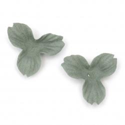 Λουλούδια από σουέτ χαρτί 35x10 mm χρώμα  μπλε παστέλ -10 τεμάχια