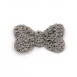Текстилен елемент за декорация панделка 20 мм цвят сив -10 броя