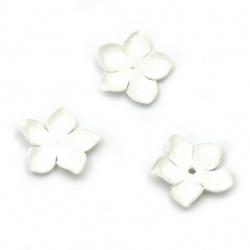 Λουλούδια από ύφασμα 25 mm λευκό -10 κομμάτια