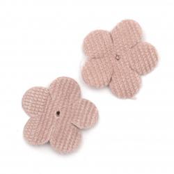 Λουλούδι 30 mm, διακοσμητικό στοιχείο, ροζ -10 τεμάχια