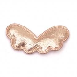Textile element for decoration wings 45x20 mm color pink -5 pieces
