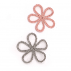 Element lace for  decoration flower45 mm color mix gray, pink -5 pieces