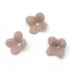 Flori din hârtie de antilopă de 17 mm culoarea frasinului de trandafiri pastelate -20 bucăți