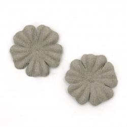 Flori din hârtie de antilopă 25 mm culoare gri pastel -10 bucăți