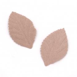 Листо от велурена хартия 45x30 мм цвят пепел от рози пастел -10 броя