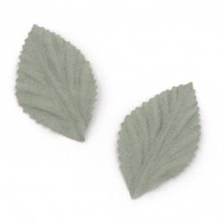 Διακοσμητικά φύλλα  χαρτιού σουέτ   50x30 mm χρώμα μπλε παστέλ -10 τεμάχια