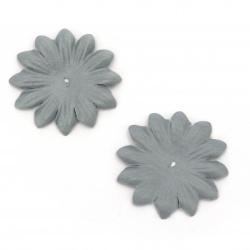 Λουλούδι από ύφασμα 40 mm γκρι -20 τεμάχια