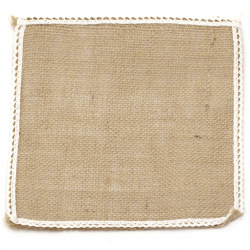 Burlap Base for Application with lace DIY Crafts Decorations, Embroidery 20x20 cm