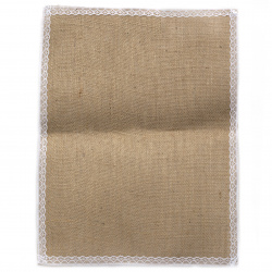 Burlap Base for Application with lace DIY Crafts Decorations, Embroidery 30x40 cm - 1 piece