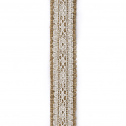 Основа за апликация лента зебло с дантела 2.5x200 см