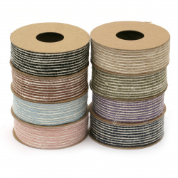 Burlap ribbon 25 mm strips assorted colors - 2 meters