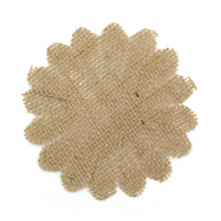 Element for decoration sackcloth 105x105 mm flower