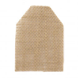 Burlap element for decorations, DIY Craft projects 70x100 mm tag