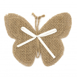 Element for decoration sackcloth 110x95 mm butterfly