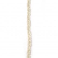 Banda sac de 7 mm împletit alb ~ 5,2 metri