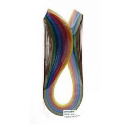 Quilling Paper Strips  (130 g paper) 6 mm / 35 cm -10 intense colors - 100 pcs