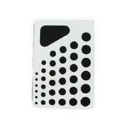 Șablon profesionist de matlasare încorporat cu soft pad 21,5x15 cm șablon cu 6 cercuri de la 7 mm la 24 mm x 6 bucăți și triunghi, EM ART